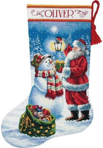 Dimensions Holiday Glow Christmas Stocking Cross Stitch