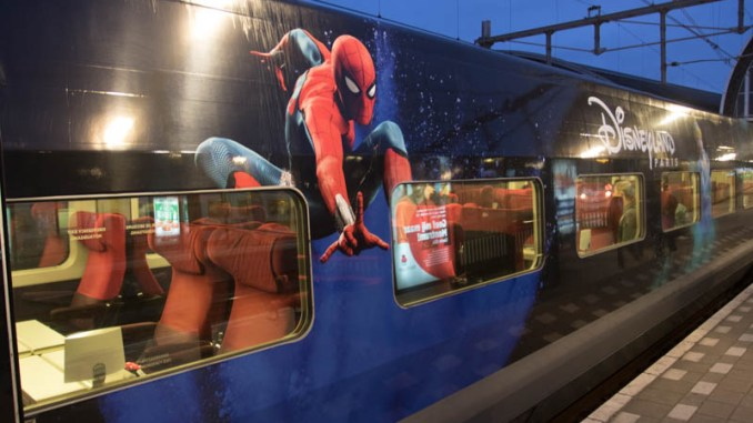 Thalys in Disneyland Parijs thema (Spiderman)
