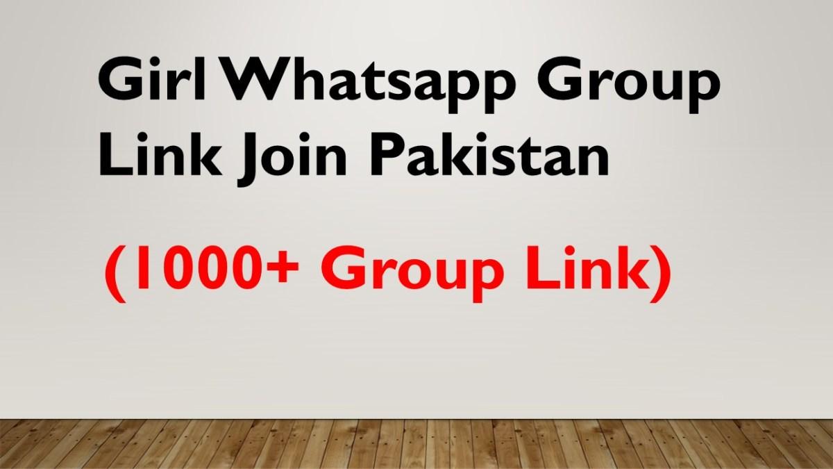Girl Whatsapp Group Link Join Pakistan