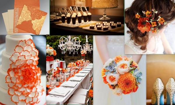 Orange Wedding Theme