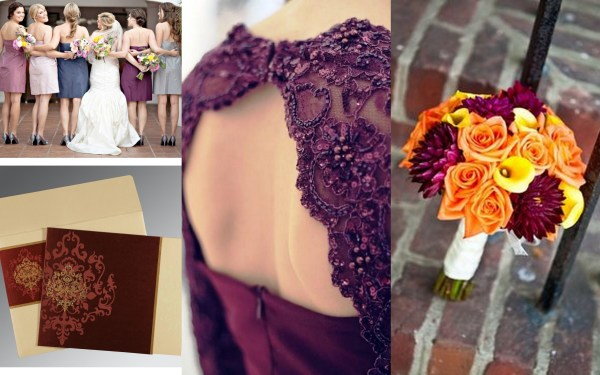 Colors of fall wedding theme