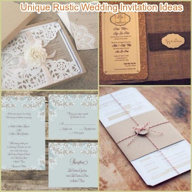 Invitation Ideas For Wedding: 20 Rustic Wedding Invitations Ideas