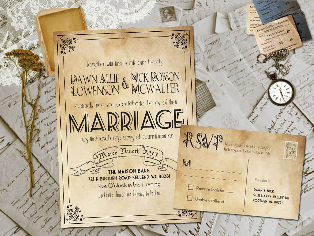 Country Chic Wedding Invitations
