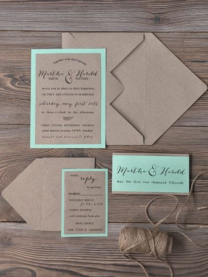 modern rustic wedding invites- 123weddingcards