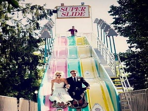 Slide Fun In Wedding