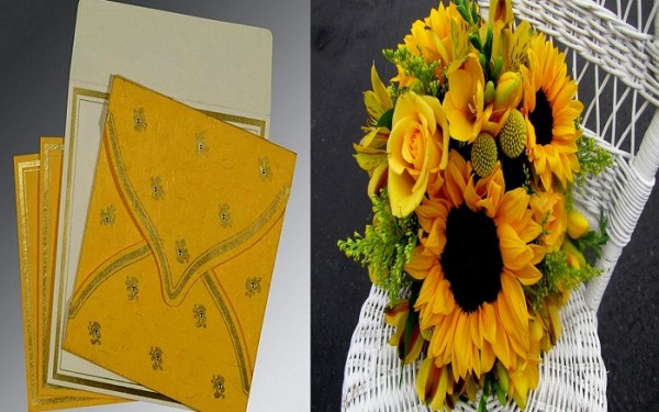 Yellow Bridal Bouquet - 123WeddingCards