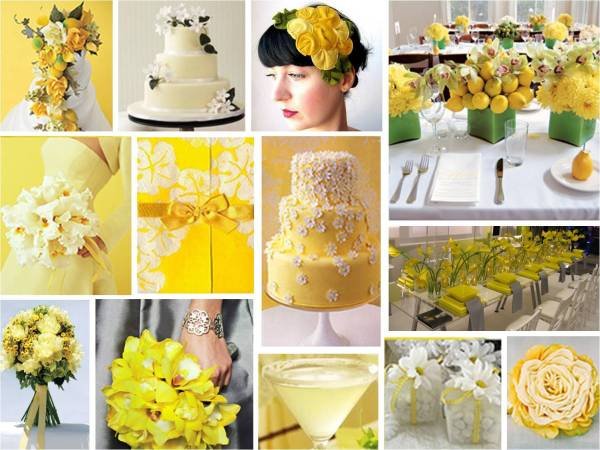 Yellow Color Wedding Theme