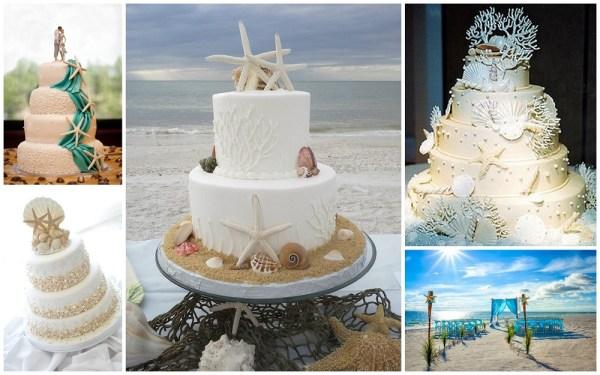 Beach wedding cakes - 123WeddingCards