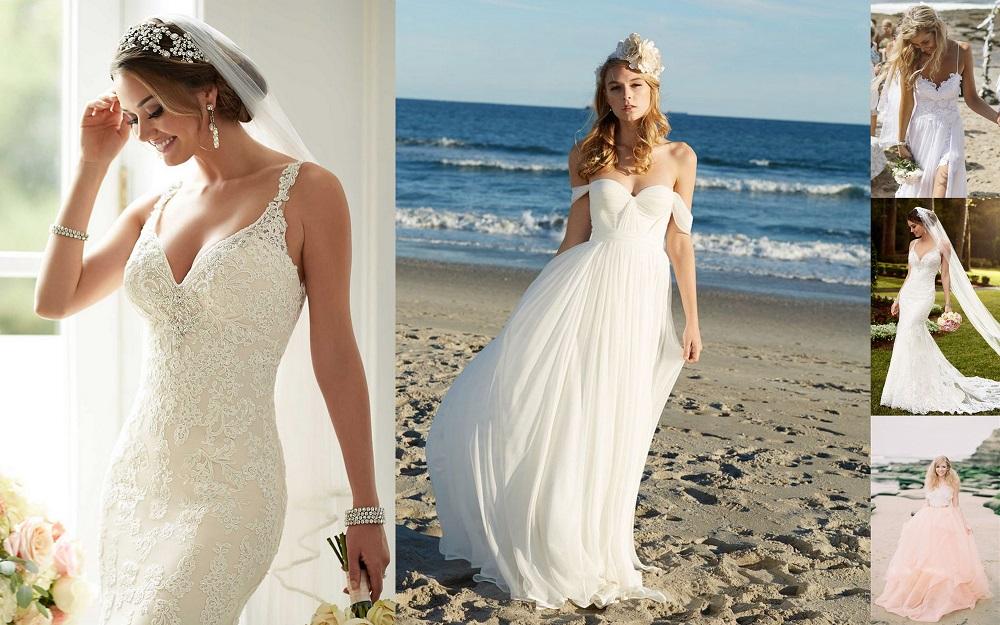 9 cheesy details for beach weddings 2016 for Beach style wedding dresses