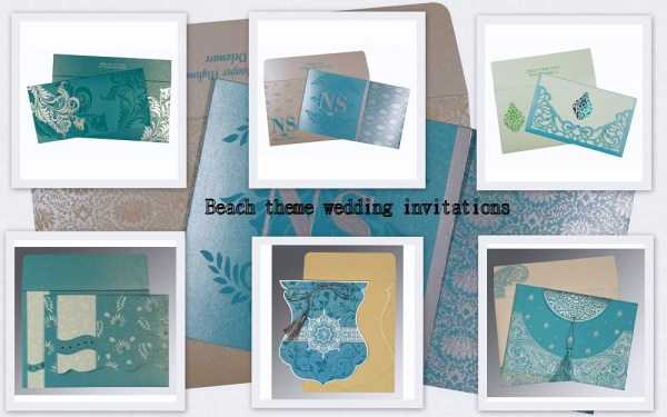 Beach wedding invitations - 123WeddingCards