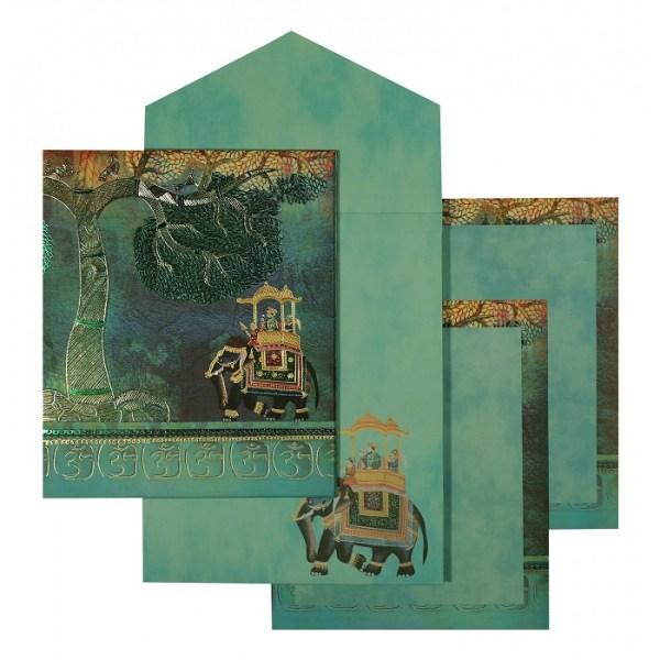 Mint color wedding invitations
