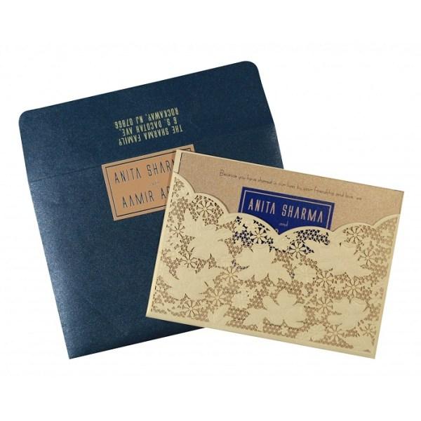 Fusion theme wedding invitation design
