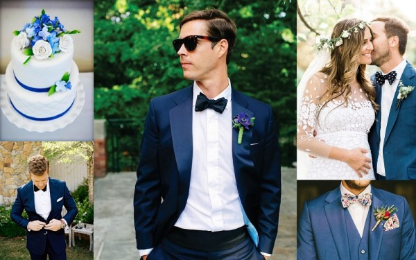 Blue Wedding Suits Idea for Men