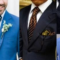Polka Dot Wedding Suits Idea for Men