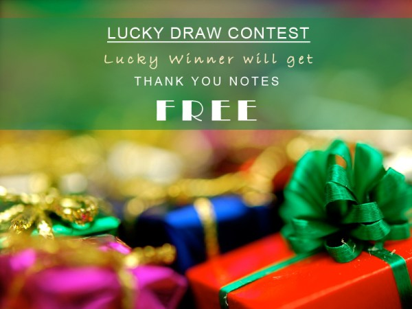 Lucky Draw Contest | 123WeddingCards