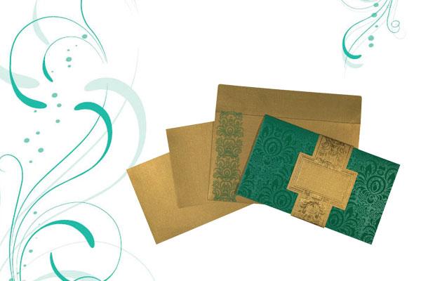 Green Wedding Card   123WeddingCards
