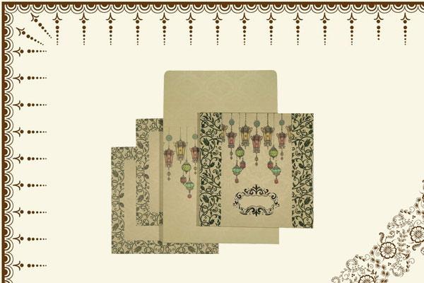 Ivory Wedding Card | 123WeddingCards