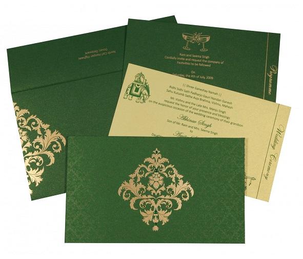Christian wedding invitations - C-8257F - 123WeddingCards