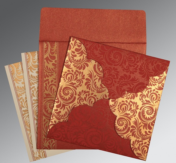Indian wedding invitation - IN-8235C - 123WeddingCards