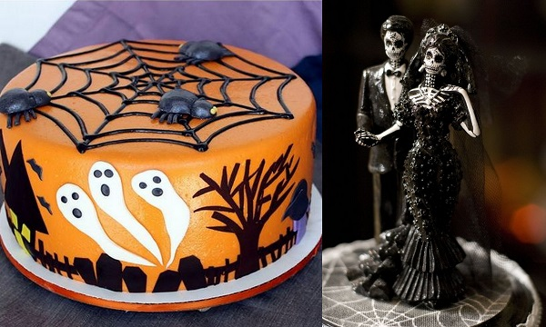 halloween wedding cakes
