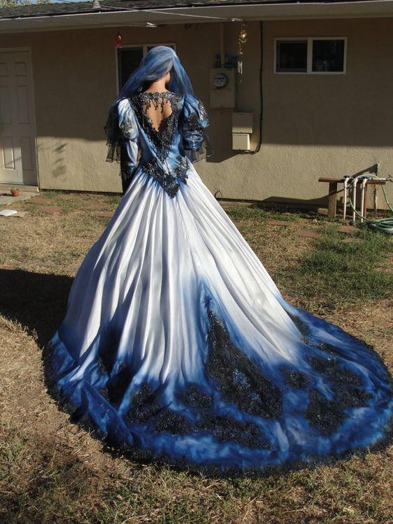 haloween wedding gown