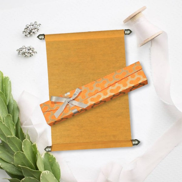 ORANGE WOOLY WEDDING INVITATIONS SC-5014F