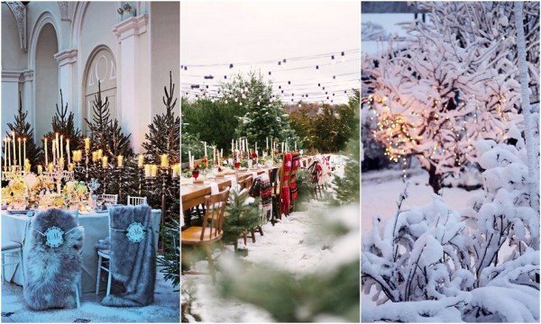 Christmas Wedding Reception Idea - 123WeddingCards