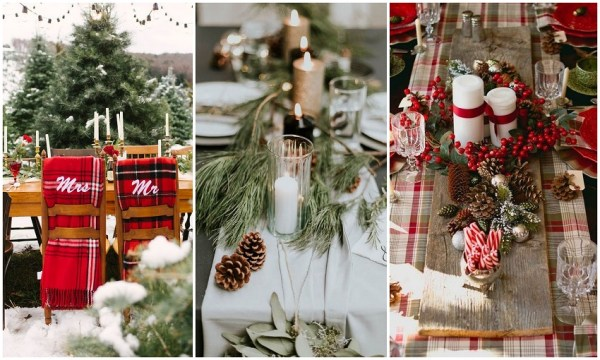 Christmas Wedding Table Setting Idea - 123WeddingCards