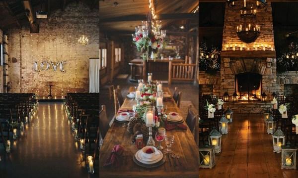 Christmas Wedding Venue Decor Idea- 123WeddingCards