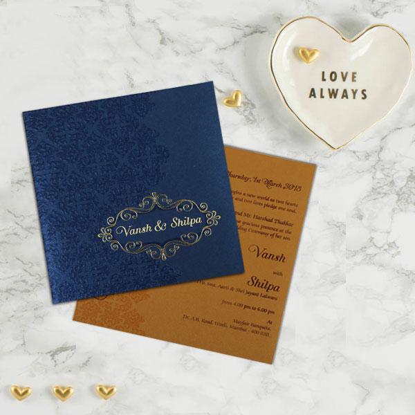Wedding invitation D-1796 - 123WeddingCards