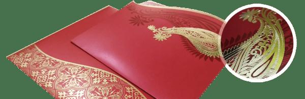 foil-stamping process wedding invitation - 123WeddingCards