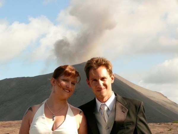 Couple Marry at Yasur Volcano, South Pacific