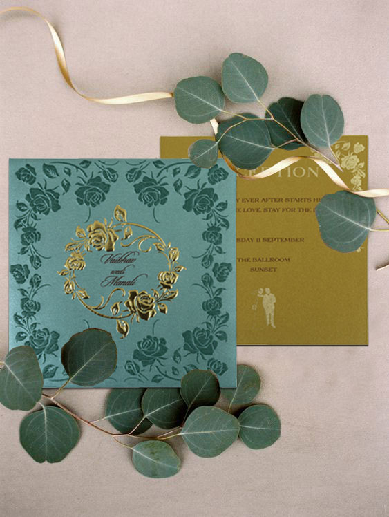 Tropical floral Invitation Card from 123WeddingCards