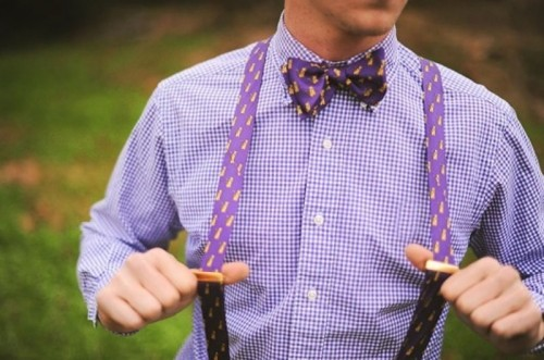 checked shirt with simple bow tie ideas for grooms- 123WeddingCards