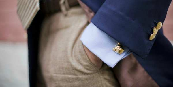 Groom's Cufflinks and other metal accessories - 123WeddingCards-min