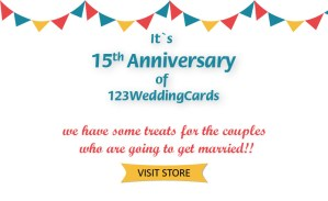 123WeddingCards Anniversary sale