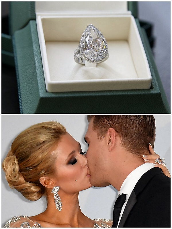 Paris Hilton & Chris Zylka engagement ring