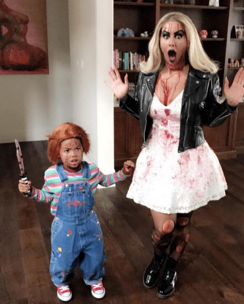 halloween dress of Amber Rose and little Sebastian in 2017