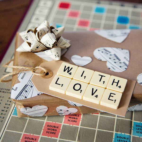 scrabble a Childhood Game as a Gift