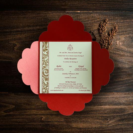 Christmas Theme Wedding Cards-123WeddingCards