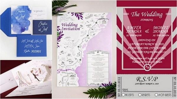 10 Popular Wedding Invitation Trends 2019 -123WeddingCards