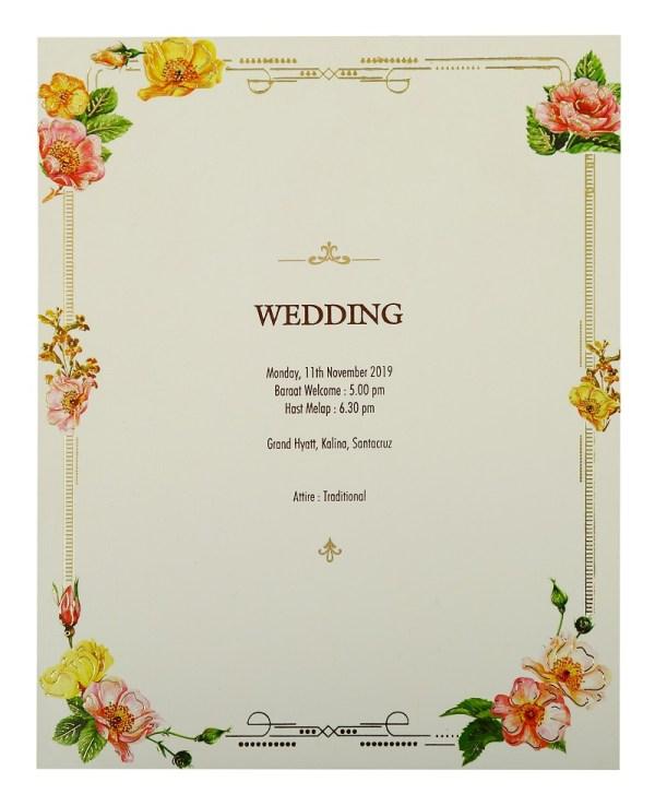 The Wedding Date-Wedding Invitation Card-123WeddingCards