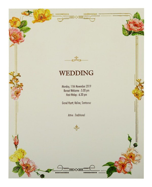 The Wedding Date-Wedding Invitation Card-123WeddingCards