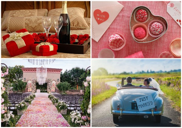 Well, it's Valentine! Top 10 Ideas for a perfect Valentine's Day Wedding