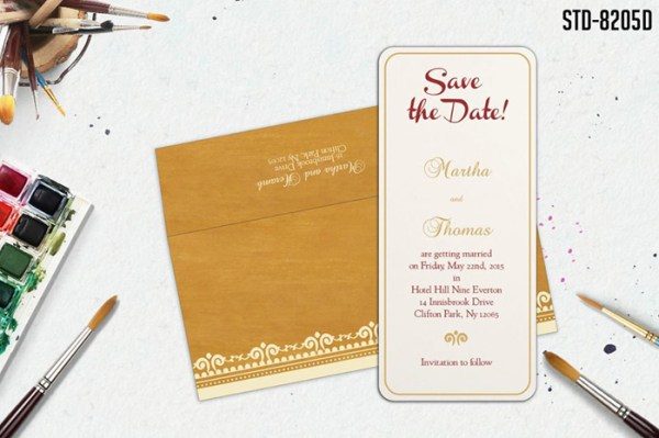 Save the dates - 123WeddingCards