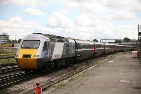 43307 on hire from National Express seen at Derby heading North (c) Dave Mulligan
