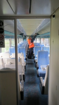 An interior inspection takes place at Long Marston