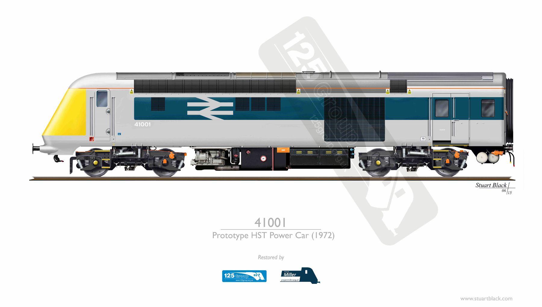 41001 – The Prototype HST – Art Print