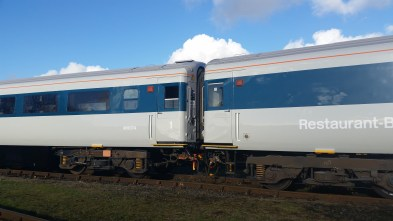125 Group MK3 carriages seen fresh from painting
