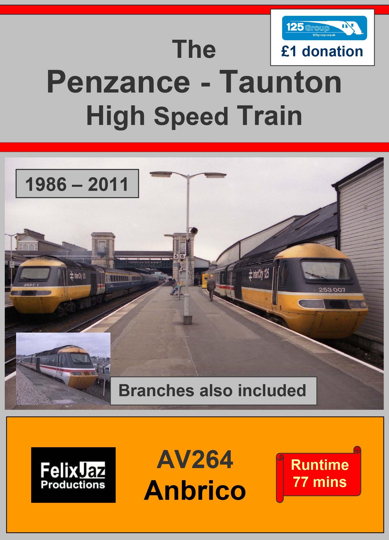 AV264 The Penzance to Taunton High Speed Train